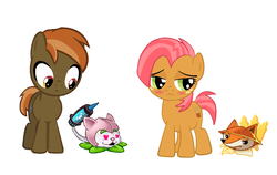 Size: 1239x784 | Tagged: artist:drybonesfan198, babs seed, button mash, buttonseed, cattail (plants vs zombies), crossover, earth pony, female, foxtail, heart, heart eyes, male, plants vs zombies, plants vs zombies 2: it's about time, pony, safe, shipping, straight, wingding eyes