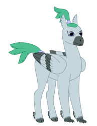 Size: 1542x2000 | Tagged: 2018 community collab, artist:exhumed legume, classical hippogriff, cloven hooves, derpibooru community collaboration, derpibooru exclusive, hippogriff, hippogriff oc, male, oc, oc only, ponytail, safe, simple background, solo, tail wrap, transparent background, unnamed oc