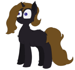 Size: 1254x1174 | Tagged: 2018 community collab, artist:xxradskixx, bat pony, derpibooru community collaboration, derpibooru exclusive, happy, oc, oc:nightdream timid, oc only, safe, simple background, solo, transparent background, unicorn