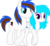 Size: 4545x4224 | Tagged: 2018 community collab, absurd res, artist:fitriamiller, couple, derpibooru community collaboration, earth pony, oc, oc:attina miller, oc:cyber groove, oc only, pony, safe, simple background, smiling, transparent background
