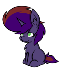 Size: 739x914 | Tagged: 2018 community collab, chest fluff, derpibooru community collaboration, ear fluff, female, mare, oc, oc:birth light, oc only, pony, safe, simple background, sitting, solo, transparent background, unicorn