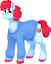 Size: 946x1182 | Tagged: 2018 community collab, artist:graffiti, clothes, colored hooves, derpibooru community collaboration, earth pony, male, oc, oc:alphabet, oc only, pony, safe, simple background, solo, sweater, transparent background
