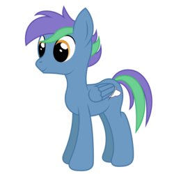 Size: 2000x2000 | Tagged: safe, artist:joey, artist:lightningbolt, derpibooru exclusive, oc, oc only, oc:cerulean frost, pegasus, pony, 2018 community collab, derpibooru community collaboration, .svg available, folded wings, male, show accurate, simple background, smiling, solo, stallion, standing, svg, transparent background, vector, wings