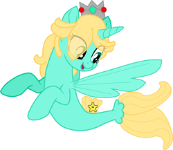 Size: 1289x1119 | Tagged: safe, artist:doraair, artist:perfectpinkwater, artist:user15432, alicorn, pony, seapony (g4), my little pony: the movie, spoiler:my little pony the movie, alicornified, base used, crossover, crown, cutie mark, ear piercing, earring, fin wings, fins, fish tail, jewelry, nintendo, piercing, ponified, princess rosalina, race swap, regalia, rosalina, seaponified, species swap, super mario bros., super mario galaxy, super smash bros., wings