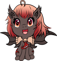 Size: 1154x1227 | Tagged: safe, artist:marcus todjel, color edit, derpibooru exclusive, edit, editor:minus, oc, oc only, oc:hyrom, bat pony, pony, 2018 community collab, derpibooru community collaboration, bat wings, bow, clothes, colored, colored lineart, female, foal, scarf, simple background, solo, transparent background