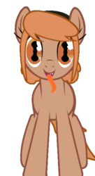 Size: 300x550 | Tagged: safe, artist:kajio, oc, oc only, oc:amber rose (thingpone), oc:thingpone, adoracreepy, body horror, creepy, cute, eldritch abomination, looking at you, monstrously cute, scary, simple background, solo, spooky, tail wag, tentacle tongue, tentacles, the thing, tongue out, transparent background