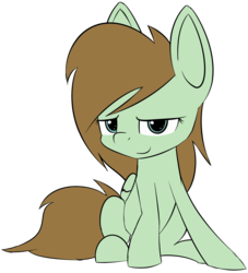 Size: 2495x2744 | Tagged: 2018 community collab, artist:lofis, derpibooru community collaboration, oc, oc:mint chocolate, oc only, pegasus, pony, safe, simple background, sitting, solo, transparent background