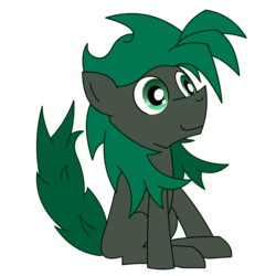 Size: 1600x1600 | Tagged: 2018 community collab, artist:minus, colored, derpibooru community collaboration, derpibooru exclusive, digital art, earth pony, green eyes, happy, male, oc, oc:minus, oc only, pony, safe, simple background, sitting, smiling, solo, transparent background, vector
