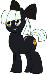 Size: 1320x2069 | Tagged: 2018 community collab, artist:feralroku, bow, derpibooru community collaboration, derpibooru exclusive, earth pony, glasses, hair bow, male, oc, oc:jack-o-lantern, oc only, pony, safe, scar, simple background, smiling, solo, stallion, transparent background