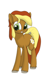 Size: 2250x3600 | Tagged: 2018 community collab, artist:litrojia, derpibooru community collaboration, earth pony, female, looking at you, mare, oc, oc:creekseed, oc only, pony, safe, simple background, smiling, solo, tail wrap, transparent background, unshorn fetlocks