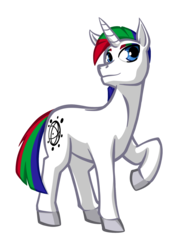 Size: 1440x2000 | Tagged: 2018 community collab, artist:texasuberalles, derpibooru community collaboration, derpibooru exclusive, male, oc, oc:journal, oc:journal.pone, oc only, plos one, ponified, pony, raised hoof, safe, simple background, solo, stallion, transparent background, unicorn