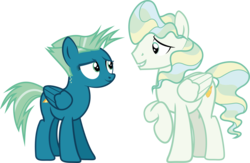 Size: 6868x4475   Tagged: safe, artist:shadowdashthebat, sky stinger, vapor trail, pony, top bolt, absurd resolution, atmosphere spike, haze path, rule 63, show accurate, simple background, transparent background, vector