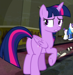 Size: 589x603 | Tagged: alicorn, cropped, mr. stripes, plot, safe, screencap, smoky jr., the saddle row review, twilight sparkle, twilight sparkle (alicorn)