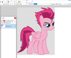 Size: 850x697 | Tagged: anonymous artist, paint.net, pinkie pie, recolor, safe, solo, spitfire