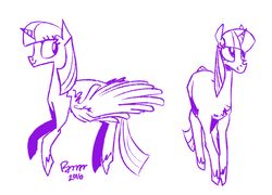 Size: 988x713 | Tagged: alicorn, artist:burrburro, pony, safe, solo, twilight sparkle, twilight sparkle (alicorn), unicorn