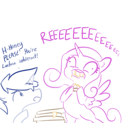 Size: 1650x1650 | Tagged: alicorn, artist:tjpones, cheese pizza, female, food, lactose intolerant, majestic as fuck, male, mare, peetzer, pizza, pony, princess cadance, reeee, safe, shining armor, simple background, sketch, stallion, this will end in farts, unicorn, white background