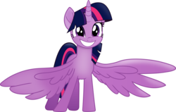 Size: 3810x2417 | Tagged: safe, artist:frownfactory, twilight sparkle, alicorn, pony, my little pony: the movie, .svg available, adorkable, cute, dork, female, happy, horn, hug request, mare, movie accurate, simple background, smiling, solo, spread wings, svg, transparent background, twiabetes, twilight sparkle (alicorn), vector, wings