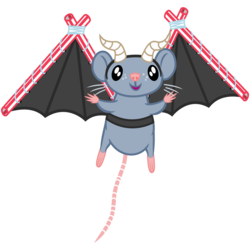 Size: 2000x2000 | Tagged: safe, artist:cheezedoodle96, oc, oc only, oc:dragonmaus, mouse, 2018 community collab, derpibooru community collaboration, .svg available, dragon costume, drinking straw, fake horns, fake wings, flying, looking at you, male, simple background, solo, svg, transparent background, vector