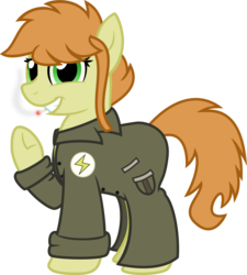 Size: 1082x1200 | Tagged: safe, artist:binkyt11, derpibooru exclusive, oc, oc only, oc:noir avery gumshoe, earth pony, pony, 2018 community collab, derpibooru community collaboration, .svg available, cigarette, clothes, colored, female, inkscape, lidded eyes, looking at you, mare, simple background, smiling, smoking, solo, svg, transparent background, trenchcoat, vector