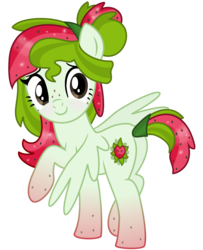 Size: 2064x2544 | Tagged: safe, artist:monkfishyadopts, derpibooru exclusive, oc, oc only, oc:watermelana, pegasus, pony, 2018 community collab, derpibooru community collaboration, blushing, freckles, gradient hooves, looking at you, looking back, looking back at you, plot, raised hoof, shy, simple background, solo, transparent background