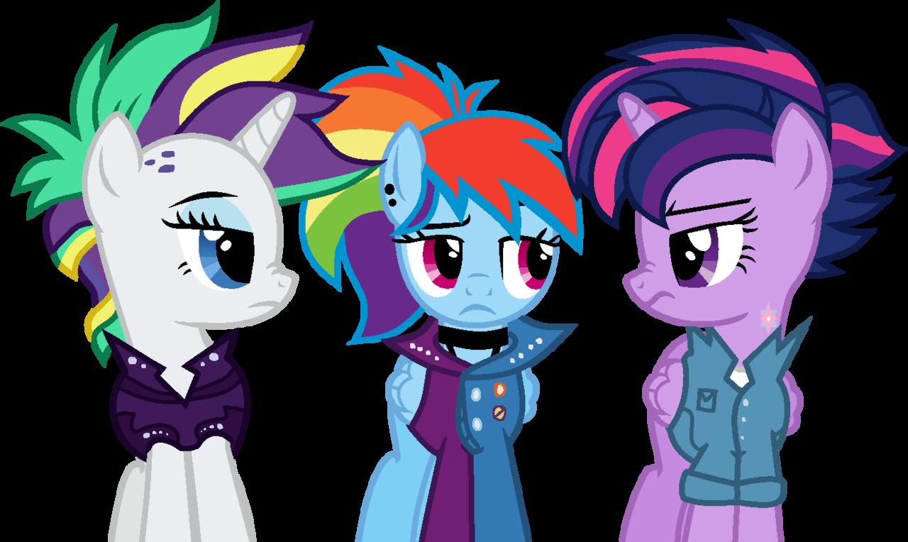 1601593 Alicorn Alternate Hairstyle Artist Moonlightdisney5 Clothes Female Mare Pegasus Pony Punk Punklight Sparkle Rainbow Dash Raripunk