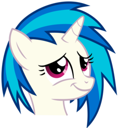 Size: 4100x4419 | Tagged: absurd res, artist:namelesshero2222, bust, dj pon-3, female, mare, pony, portrait, safe, simple background, smug, solo, .svg available, transparent background, unicorn, vector, vinyl scratch