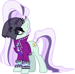 Size: 3061x3000   Tagged: safe, artist:cloudyglow, coloratura, earth pony, pony, the mane attraction, clothes, countess coloratura, female, mare, simple background, smiling, solo, transparent background, vector, veil