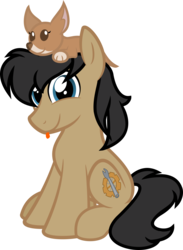 Size: 877x1200 | Tagged: 2018 community collab, artist:binkyt11, derpibooru community collaboration, derpibooru exclusive, earth pony, inkscape, male, oc, oc:cogs fixmore, oc only, :p, pet, pony, safe, silly, simple background, solo, stallion, svg, .svg available, tongue out, transparent background, vector