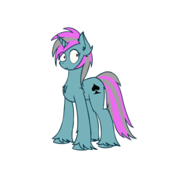 Size: 1200x1200 | Tagged: safe, artist:toanderic, oc, oc only, oc:card sadic, pony, unicorn, 2018 community collab, derpibooru community collaboration, female, mare, simple background, solo, transparent background