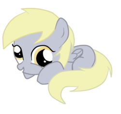Size: 425x399 | Tagged: artist:alejamoreno-brony, cute, derpabetes, derpy hooves, female, filly, filly derpy, pegasus, pony, prone, safe, simple background, solo, transparent background, vector, younger