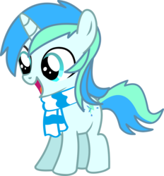 Size: 10743x11601 | Tagged: safe, artist:cyanlightning, oc, oc only, oc:cyan lightning, pony, unicorn, .svg available, absurd resolution, clothes, colt, cute, cutie mark, male, ocbetes, scarf, simple background, solo, transparent background, vector