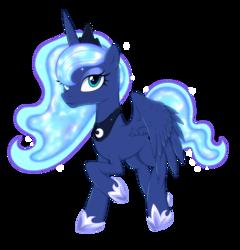 Size: 3006x3132   Tagged: safe, artist:kas92, princess luna, alicorn, pony, simple background, solo, transparent background, vector
