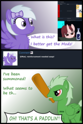 Size: 2400x3593 | Tagged: safe, artist:arifproject, artist:badumsquish, derpibooru exclusive, oc, oc only, oc:comment, oc:download, oc:downvote, oc:favourite, oc:report, oc:theme, alicorn, pegasus, pony, unicorn, derpibooru, alcohol, alicorn oc, angry, argument, blah, bored, bow, chest fluff, chubby cheeks, cigarette, comic, derpibooru ponified, derpibooru theme illusion, dialogue, downvote vs theme, eyes closed, facehoof, female, glasses, hair accessory, hair bow, hairclip, illusion, imminent spanking, liquor, looking at you, male, messy mane, meta, moderator, moonshine, mouth hold, open mouth, paddle, part of a series, part of a set, ponified, reply, report queue, simple background, smiling, spread wings, surprised, surveillance room, transparent background, trash dove, unamused, vector, wat, yelling