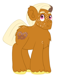 Size: 1280x1618 | Tagged: safe, artist:mediponee, oc, oc only, oc:pretzel, food, pretzel, simple background, solo, white background