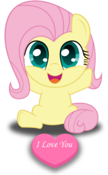 Size: 1239x2000 | Tagged: safe, artist:spellboundcanvas, fluttershy, cute, filly, filly fluttershy, hearts and hooves day, shyabetes, simple background, solo, spellboundcanvas is trying to murder us, transparent background, weapons-grade cute