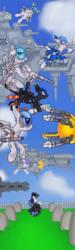 Size: 1551x5198 | Tagged: safe, artist:fameng, coloratura, original species, plane pony, pony, absurd resolution, crying, gravestone, plane, r-9a arrowhead, r-9bbk striderbk, r-9c warhead, r-9d shooting star, r-9e midnight eye, r-type, r-type tactics, rara, spaceship, tx-1 eclipse