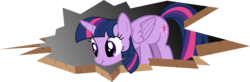 Size: 10216x3352 | Tagged: safe, artist:drakizora, twilight sparkle, alicorn, pony, absurd resolution, ceiling pony, fourth wall, nose wrinkle, scrunchy face, solo, twilight sparkle (alicorn)