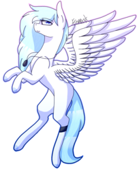Size: 670x832 | Tagged: safe, artist:sweetmelon556, oc, oc only, oc:feather cloud, pegasus, pony, female, flying, mare, simple background, solo, transparent background
