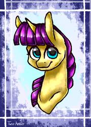 Size: 756x1050   Tagged: safe, artist:twixyamber, oc, oc only, pony, unicorn, bust, female, mare, portrait, solo