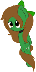 Size: 2000x3975 | Tagged: artist:phinpie, bipedal, bow, cute, cutie mark, female, mare, oc, oc:green, oc only, pegasus, pony, rule 63, safe, simple background, solo, transparent background, vector