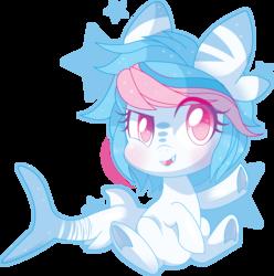 Size: 4014x4045 | Tagged: safe, artist:sorasku, oc, oc only, original species, shark pony, absurd resolution, blushing, simple background, solo, transparent background