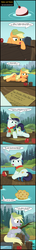 Size: 1823x12487 | Tagged: apple, applejack, artist:toxic-mario, camp, camp friendship, coloratura, comic, derpy hooves, female, filly, filly applejack, filly coloratura, filly derpy, fishing, food, hat, muffin, safe, that pony sure does love muffins