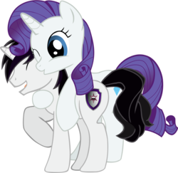 Size: 3124x3036 | Tagged: safe, artist:barrfind, rarity, oc, oc:barrfind, canon x oc, cutie mark, eyes closed, female, hug, kissing, male, rarifind, shipping, simple background, smiling, straight, transparent background, vector