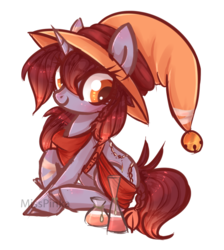 Size: 912x1019 | Tagged: safe, artist:misspinka, oc, oc only, oc:candlewick, earth pony, pony, unicorn, female, hat, mare, simple background, solo, transparent background, witch hat