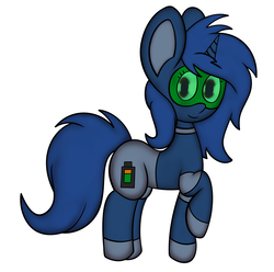 Size: 3684x3660 | Tagged: safe, artist:anonpony1, artist:stormydoods, oc, oc only, oc:starlight blossom, pony, robot, robot pony, collaboration, older, simple background, solo, species swap, white background