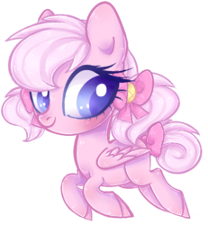 Size: 512x555 | Tagged: safe, artist:misspinka, oc, oc only, oc:almond, oc:almond bloom, bat pony, pegasus, pony, chibi, female, mare, simple background, solo, transparent background