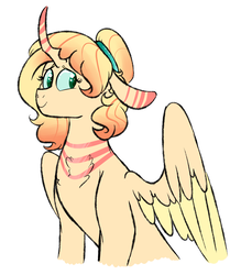 Size: 1051x1198 | Tagged: safe, artist:soft-arthropod, oc, oc only, oc:nymph, changepony, hybrid, interspecies offspring, magical lesbian spawn, offspring, parent:fluttershy, parent:queen chrysalis, parents:chrysashy, simple background, solo, white background
