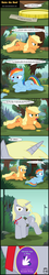 Size: 2126x11893 | Tagged: absurd res, alicorn, alicornified, applejack, artist:toxic-mario, bit, bits, coin, comic, derpy hooves, downvote bait, earth pony, female, filly, filly rainbow dash, pegasus, pony, princess derpy, race swap, rainbow dash, safe, scout, teenage applejack