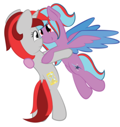 Size: 3000x3195 | Tagged: artist:phinpie, cutie mark, dancing, female, mare, oc, oc only, oc:star beats, oc:zenatura, pegasus, pony, safe, simple background, transparent background, unicorn, vector