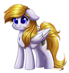 Size: 801x847 | Tagged: safe, artist:ravensunart, oc, oc only, oc:cookie byte, pegasus, pony, chest fluff, commission, cute, female, mare, simple background, smiling, solo, white background